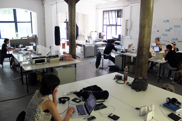 A typical coworking space. Credit: Wikipedia.