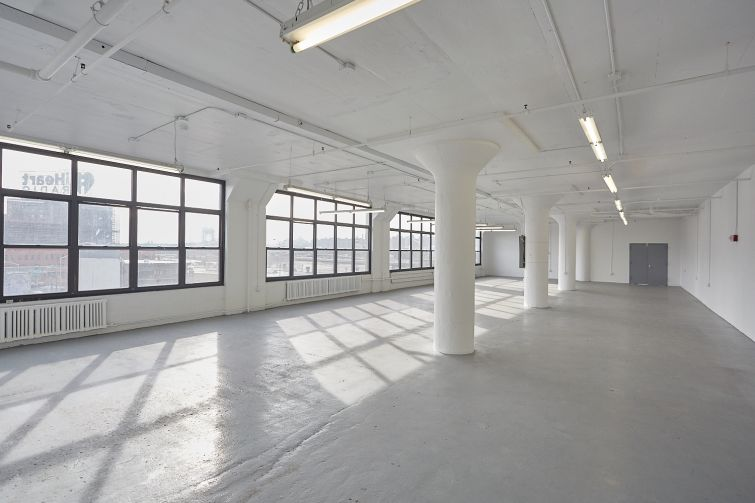 A renovated space on the 4th floor of The Bruckner Building. Photo: Harry Zernike/ for Commercial Observer.
