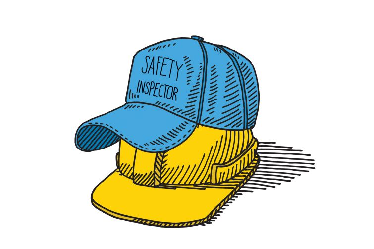 Superintendents typically wear two hats as a safety manager and project director. Illustration: Kaitlyn Flannagan
