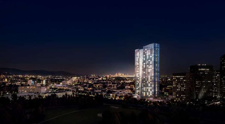 A rendering of Ten Thousand in Los Angeles, Calif. Image courtesy: Crescent Heights.