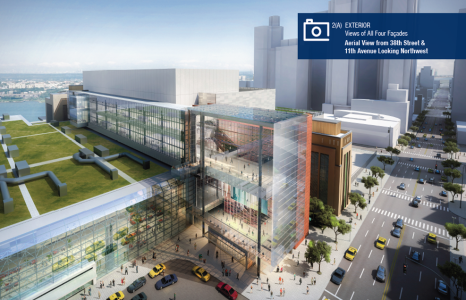 A rendering of the Jacob K. Javits Convention Center expanion. Courtesty: Empire State Development Corporation