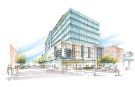 RENDERING OF 38-01 QUEENS BOULEVARD. IMAGE: SBLM ARCHITECTS via Curbcut Urban Partners