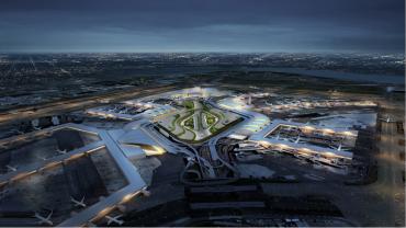 Rendering of the revamped JFK Airport.