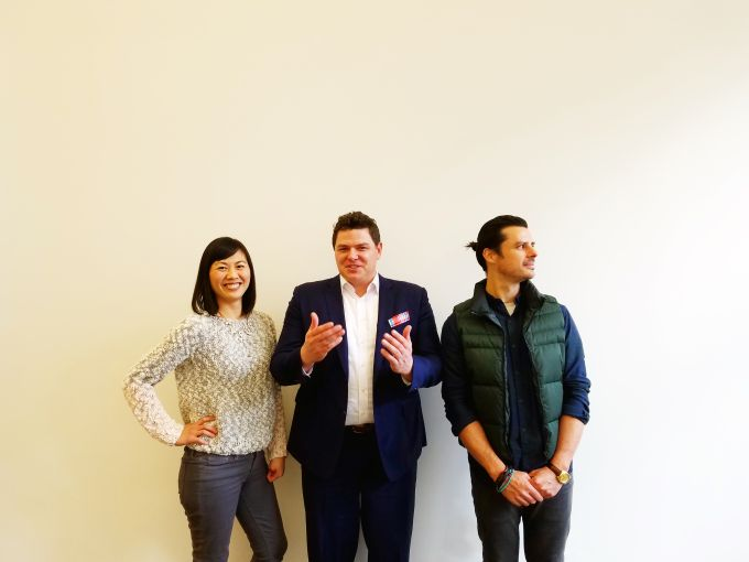 Totem's founders, from left, Vivian Liao Korich, Tucker Reed and Manuel Mansylla. Photo: Totem