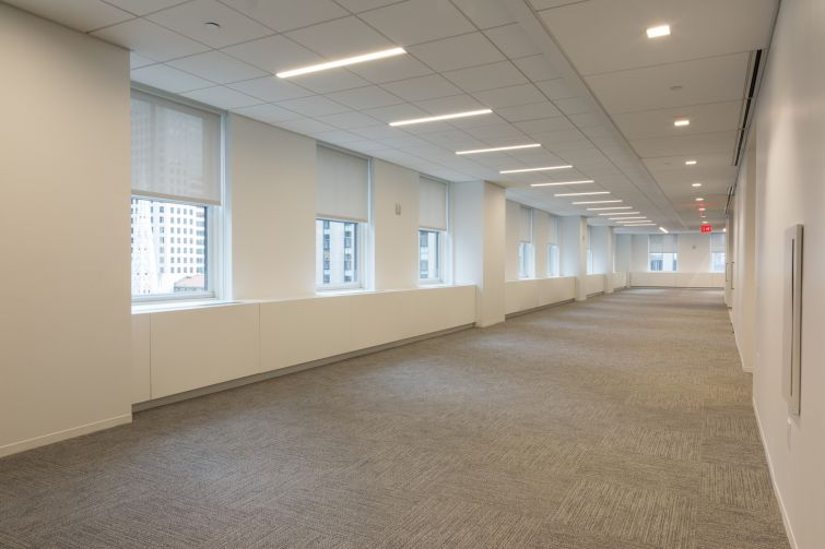 Open layout space on the 19th floor. Photo: Melissa Goodwin/For Commercial Observer