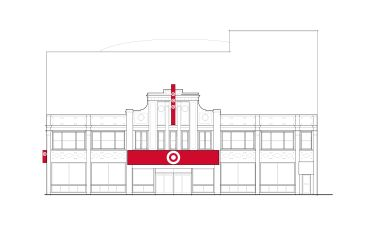 a draft rendering of the store's exterior. Image: Target