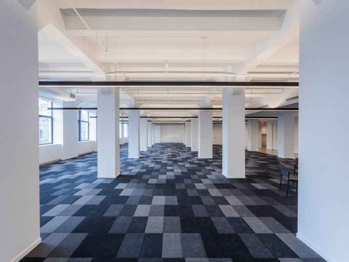 The prebuilt sixth floor at 5 Penn Plaza features ample open space. Photo: Sasha Maslov/For Commercial Observer