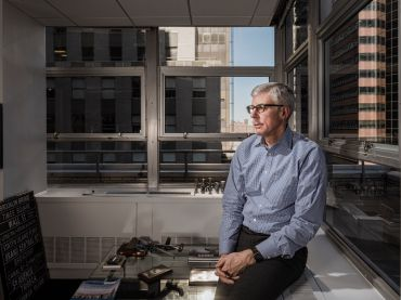 Scott Frank in his offices at 80 Pine Street. Photo: Sasha Maslov