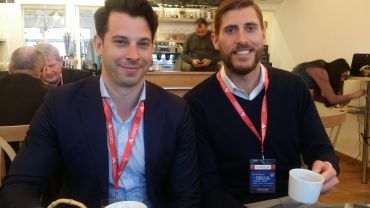 VTS CEO Nick Romito  (left) and CPO Brandon Weber at MIPIM. Photo: Liam La Guerre