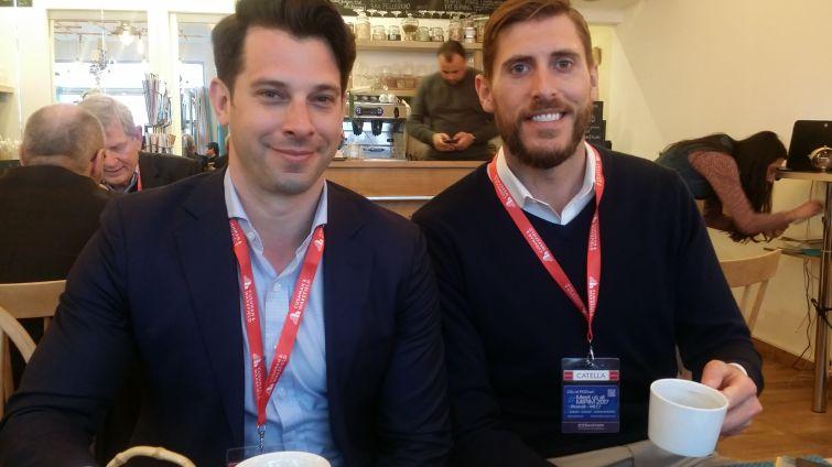 VTS CEO Nick Romito  (left) and CPO Brandon Weber at MIPIM. Photo: Liam La Guerre
