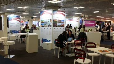 The National Association of Retailers' American Pavilion at MIPIM. Photo: Liam La Guerre