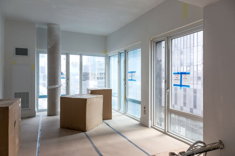 Apartments will have floor-to-ceiling windows. Photo: Melissa Goodwin/For Commercial Observer