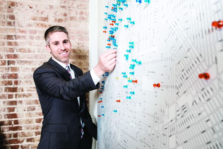 Dan Marks, partner at TerraCRG at their offices in Prospect Heights, Brooklyn. Chris Sorensen/For Commercial Observer