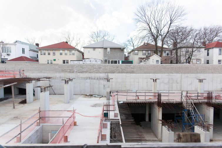 1504 Coney Island Avenue under construction. Photo: Katie Yuen for the Commercial Observer