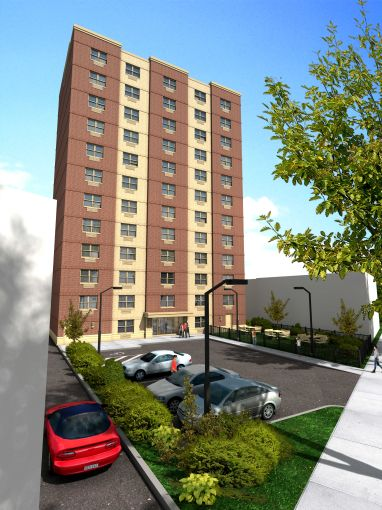 A rendering of West Farms Apartments. Courtesy: Sterling National Bank