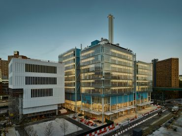 The Lenfest Center for the Arts and the Jerome L. Greene Science Center recently opened as part of Columbia University's Manhattanville campus expansion.