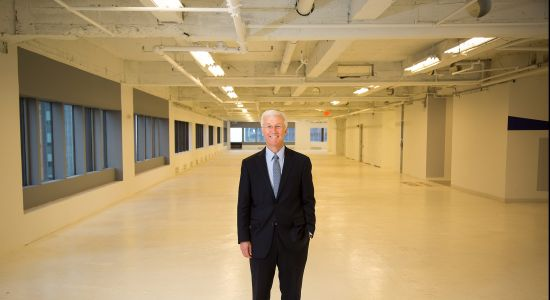 Dan Rashin, co-president and co-chief executive officer of Rockefeller Group, on the 33rd floor of 1271 Avenue of the Americas. Photo: Michael Nagle/for Commercial Observer