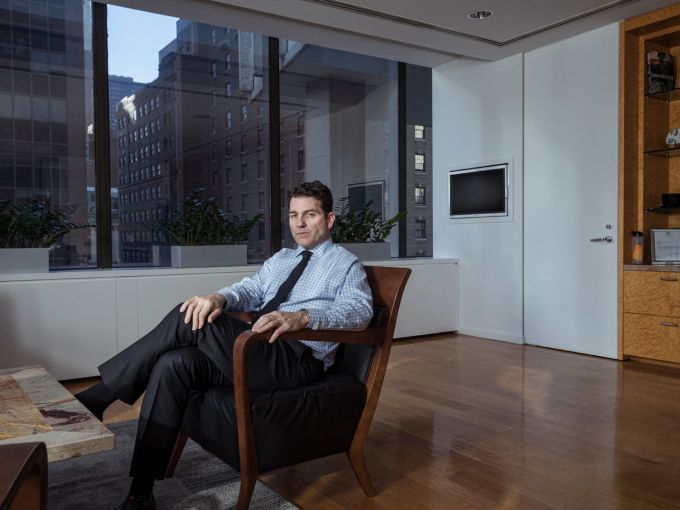 Denis Hickey in his office at 200 Park Avenue. Photo: Sasha Maslov/For Commercial Observer.