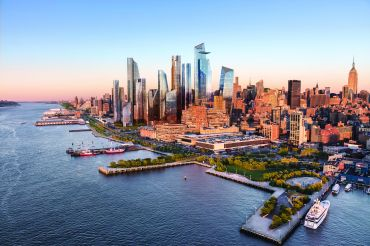 A view from the Hudson River of what Hudson Yards is expected to look like once completed in 2025. Courtesy of Related-Oxford