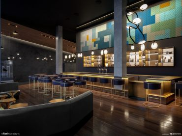 WHEN THE LIGHTS GO DOWN: Landmark Theatres will be opening a tricked out cinema at Via 57 West this September, called The Landmark at 57 West. Image: Rael Architectures