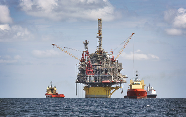Offshore Drilling in the Gulf of Mexico. Photo: Gary Tramontina/Corbis via Getty Images