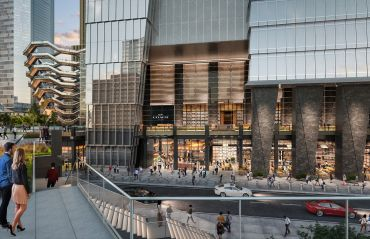 Rendering of the entrance to José Andrés' new food hall at 10 Hudson Yards. Photo: Related Companies and Oxford Properties Group