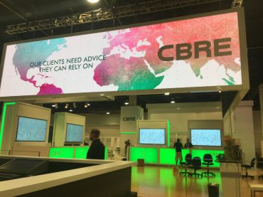 The CBRE booth at ICSC RECon 2017. Photo: Lauren Elkies Schram