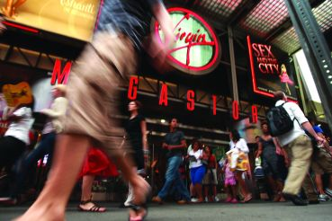 The Virgin Megastore in Times Square closed in June 2009, as the chain shuttered all 23 of its North America locations. Photo: Spencer Platt/For Getty Images