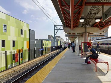 Rendering of a SEPTA regional rail station near Temple University in Philadelphia. Photo: Jeffrey Totaro