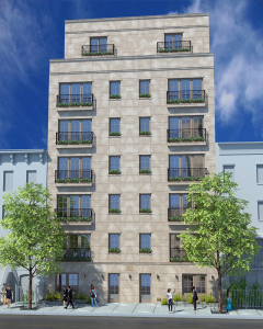 The planned development that will replace 163, 165 and 167 East 62nd Street.