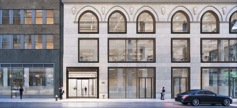 Vanbarton Group plans to revitalize the building's façade.