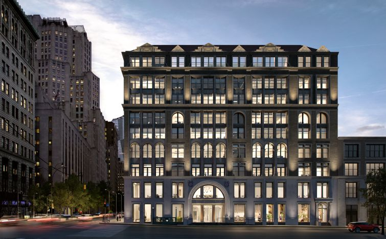 A rendering of the new façade of 287 Park Avenue South. Rendering: The Seventh Art