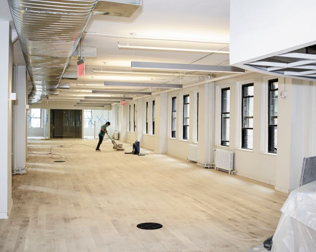 An office space that is being prebuilt at 40 Exchange Place. Photo: Robert Paul Cohen/For Commercial Observer
