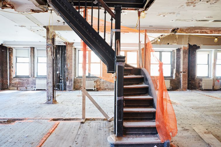 The cast iron staircase in the building will be renovated. Photo: Yvonne Albinowski/For Commercial Observer
