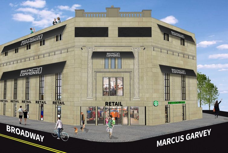 Rendering of 774 Broadway. KicksUSA will be to the far left.