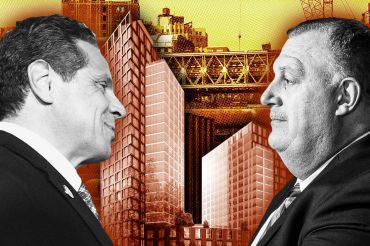 Andrew Cuomo (left) cemented himself as a friend to the Building and Construction Trades Council (headed by Gary LaBarbera, on the right) when he signed off on a new 421a program that required minimum wages for large projects.