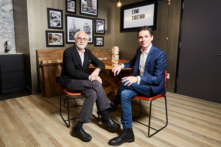 Simon and Sterling Jawitz in Common Baltic at 595 Baltic Street. Photo: Yvonne Albinowski/For Commercial Observer