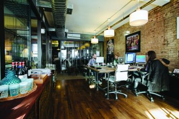 A WeWork space.