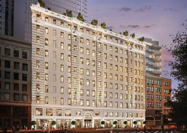 Rendering of the Pioneer Building at 41 Flatbush Avenue. Photo: Quinlan/BLT
