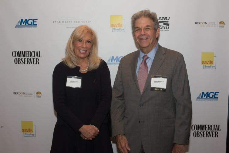 Joanne Podell Cushman & Wakefield and Steven Kaufman of Kaufman Organization.