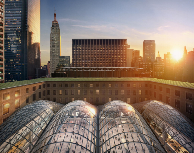 Moynihan Train Hall. Rendering: SOM