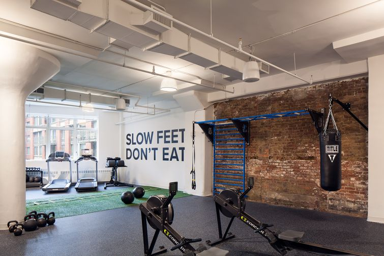 Grovo has a gym inside its offices. Image: JIDK