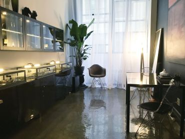 TINY JEWELER: Diaboli Kill Jewelry Showroom occupies a 187-square-foot space at 45 Main Street in Dumbo.
