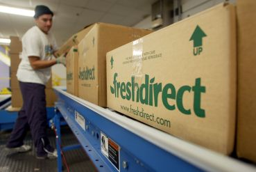 A FreshDirect distribution center.