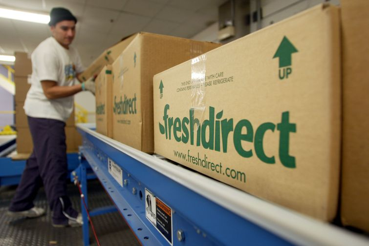 A FreshDirect distribution center. Photo: Getty Images