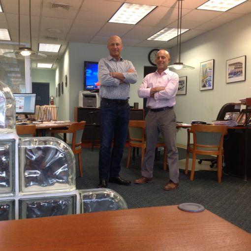 Steve Blackburn, Allan Profeta (right) of Premiere Properties.