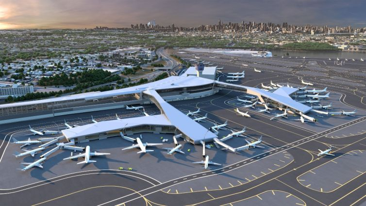 Rendering of the new LaGuardia Central Terminal B.