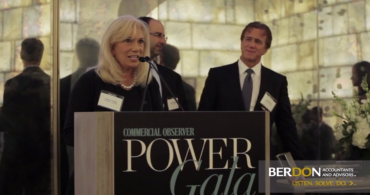Joanne Podell of Cushman and Wakefield accepting the Power Award for Deal of the Year.