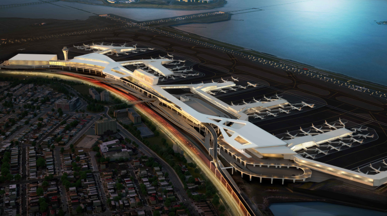 A rendering of the new LaGuardia Airport terminals. Rendering: Governor Andrew Cuomo's office.