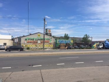 M. Fine Lumber's facility at 1301 Metropolitan Avenue.